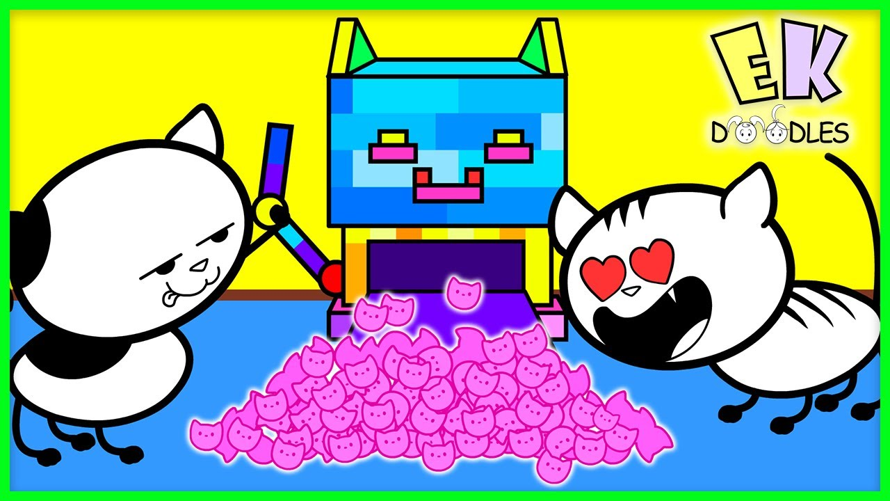 Download REAL CAT vs ROBO CAT! EK Doodles Build DIY Robot Cat Funny Video