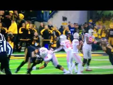 "Iowa's Joshua Jackson, Odell INTERCEPTION vs ""THE"" Ohio St. Buckeyes 11417"