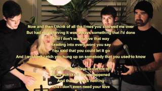 5 People 1 Guitar - Somebody That I Used to Know - Lyrics / Songtext - Walk off the Earth