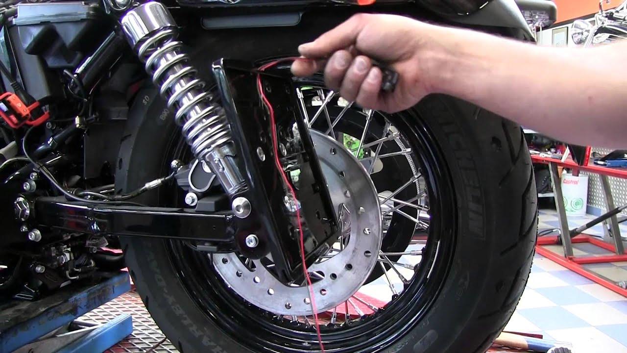 Thunderbike: Montage seitl. Kennzeichenhalter Harley Davidson ...