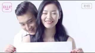 150519 elle mobile bts photoshoot siwon and liu wen