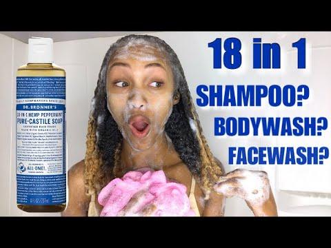 Dr. Bronners 18 in 1 PURE CASTILE Soap   A Shampoo, Bodywash, Facewash and More?