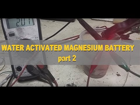 Water Activated Magnesium Battery 2