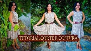 Corte e Costura: Vestido Godê Retrô