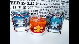 DIY  żelowe  świece na Boże Narodzenie  ,zimowe dekoracje