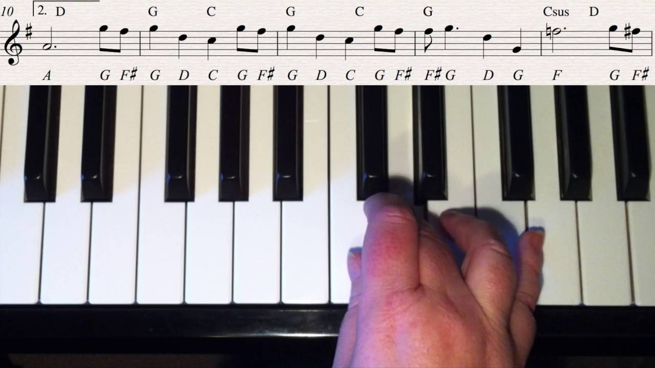 Jurassic Park Theme  just right hand - easy piano tutorial