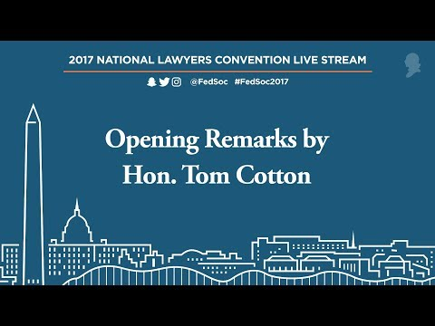 Opening Remarks by Hon. Tom Cotton [Live Stream]