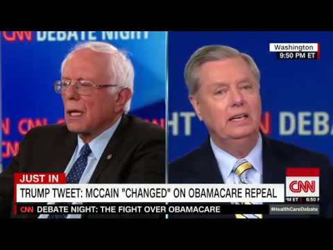 Watch Lindsey Graham forcefully defend John McCain against Donald Trump ridicule