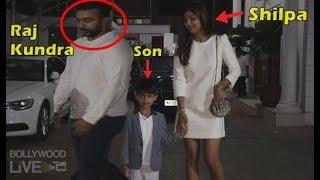 Raj Kundra INGORES Wife Shilpa Shetty & Son Viaan In Public