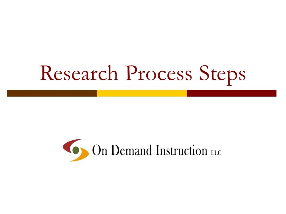 What is the first step in the research process?