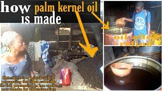 How Nigeria palm kernel  Oil is made(woman explain short video) #palmkerneloil #groundnutoil #oil