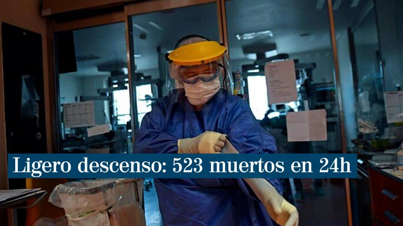 Bajan los muertos por coronavirus en España por segundo día con 523 y ya son 177.633 los contagios