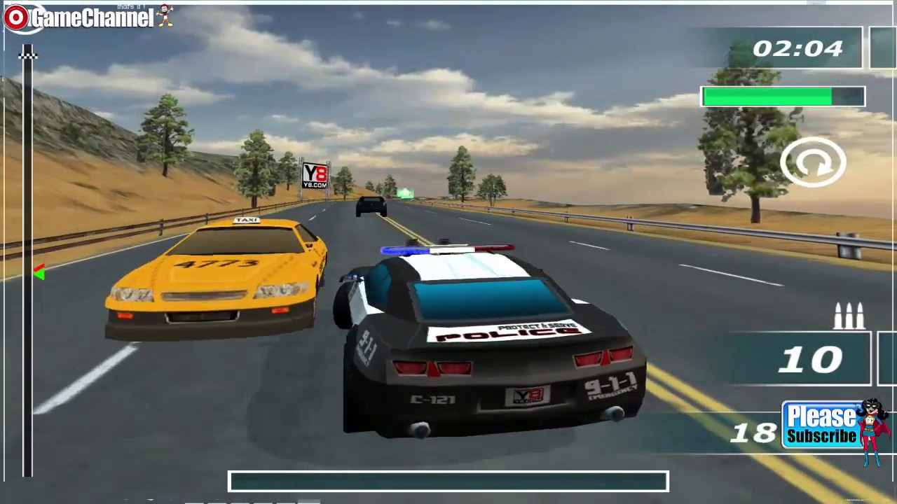 Highway Squad Game Car Driver Race Games For Children Flash