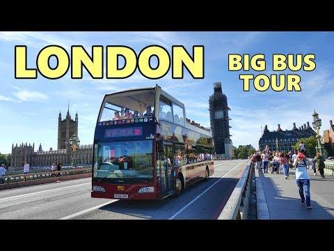 LONDON - BIG BUS TOUR , UK 4K