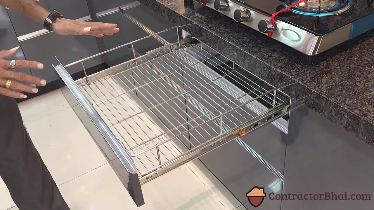 Modular Kitchen Basket types  YouTube