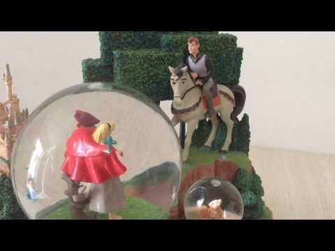 Disney Aurora and Prince Phillip Musical Snow Globe