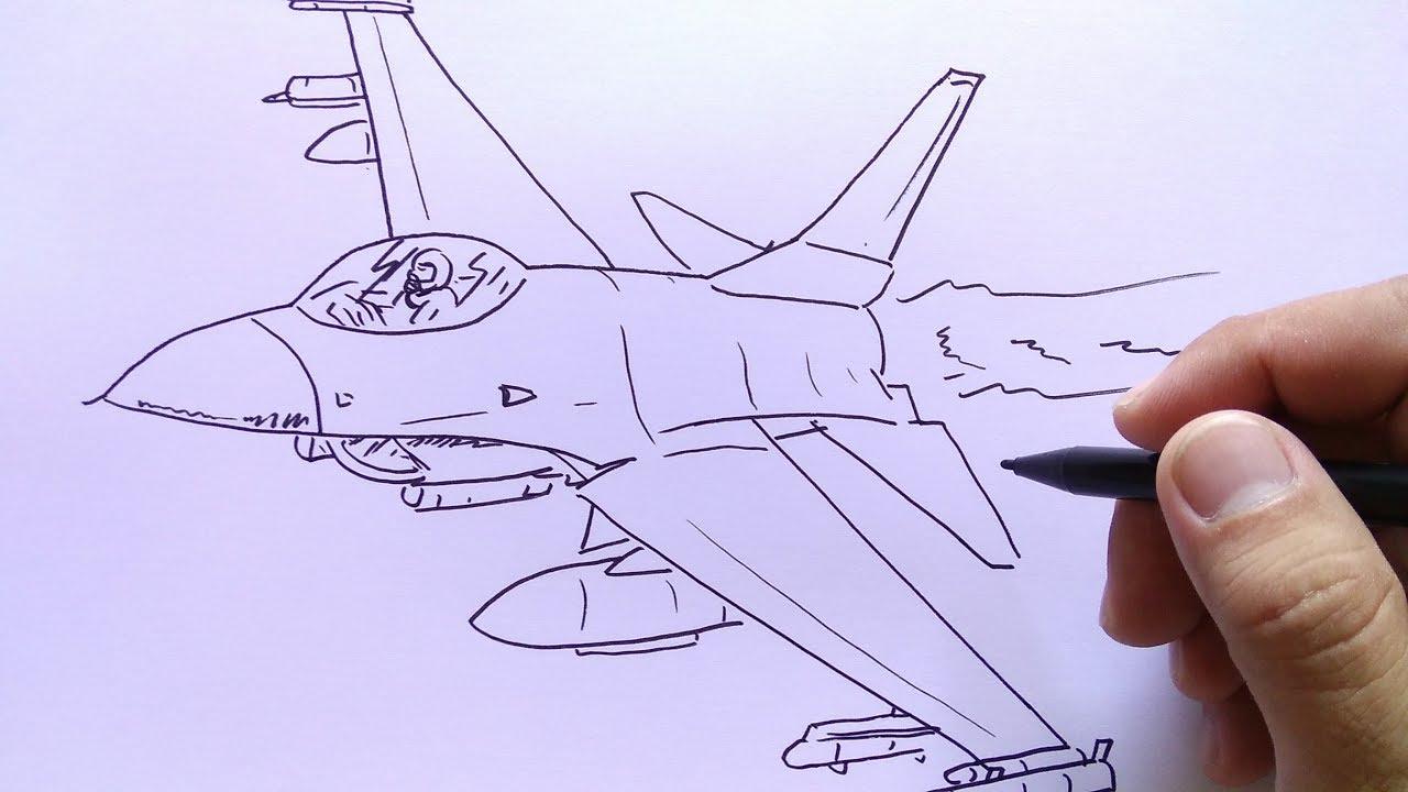 Cara Menggambar Pesawat Jet Youtube