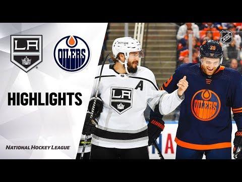 NHL Highlights   Kings @ Oilers 12/6/19