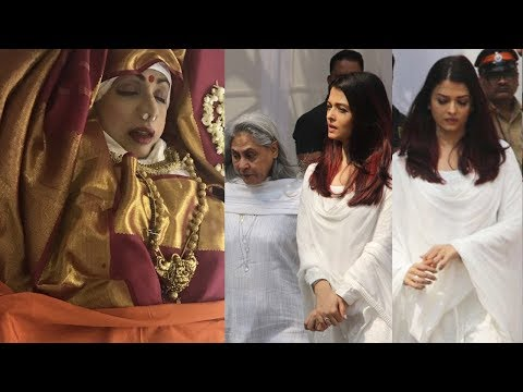 Emotional Aishwarya Rai Bachchan Breaks Down Like Never Before At Sridevi's last Rites At Her Death