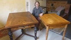 Tisch restaurieren, alten Ausziehtisch restaurieren, der Gründerzeit, des Historismus