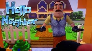 Realistic Minecraft: Hello Neighbor - Secret lever to the Attic!!!