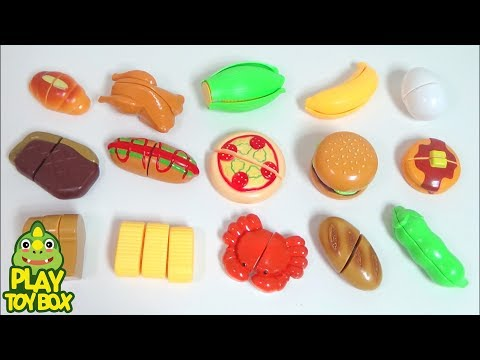 Learn Names Delicious Foods for kids with Toys and Learn Colors