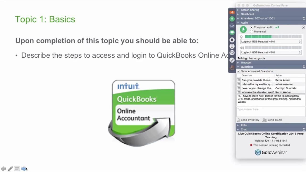 Quickbooks Online Certification Test Preparation Module 4 Youtube