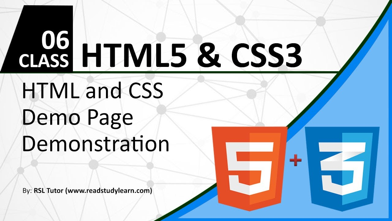 HTML and CSS tutorial for beginners in Urdu 2017 - New HTML5 ...
