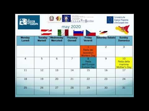 Il calendario 2020 Erasmus+ di Palermo