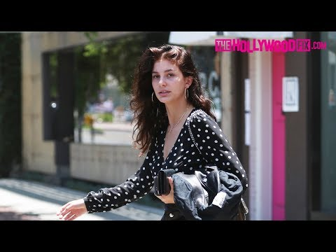 Camila Morrone Is Asked About Her Relationship With Leonardo DiCaprio With Her Mom At Alfred Coffee