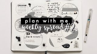 plan with me | weekly spread #2 bullet journal