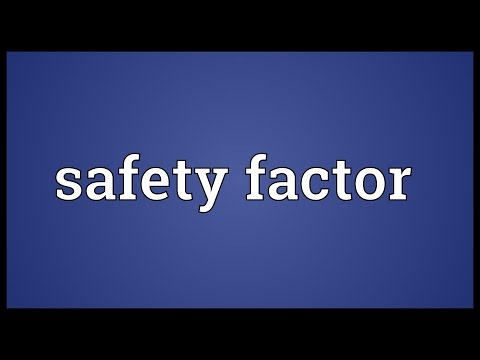 safety-factor-meaning