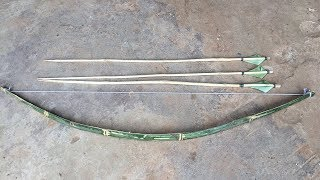 How To Make Bow And Arrows With Bamboo Skewer (Thnou Khmer)_Khmer Traditional