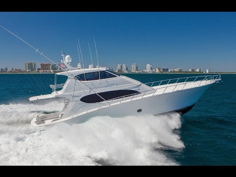 Ready for Delivery: 2011 Hatteras 77 Enclosed Bridge Yacht For Sale at MarineMax Yacht Center