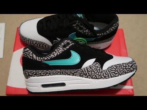 new product ec4c2 667ea Nike Air Max 1 Atmos  Elephant  Sneaker Unboxing