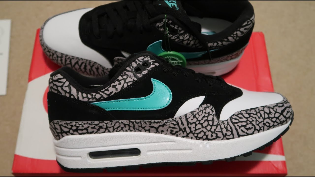 00f2c98cb419 Nike Air Max 1 Atmos  Elephant  Sneaker Unboxing - YouTube