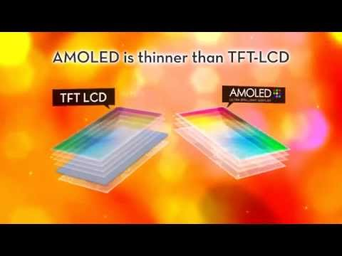 Difference between AMOLED and TFT