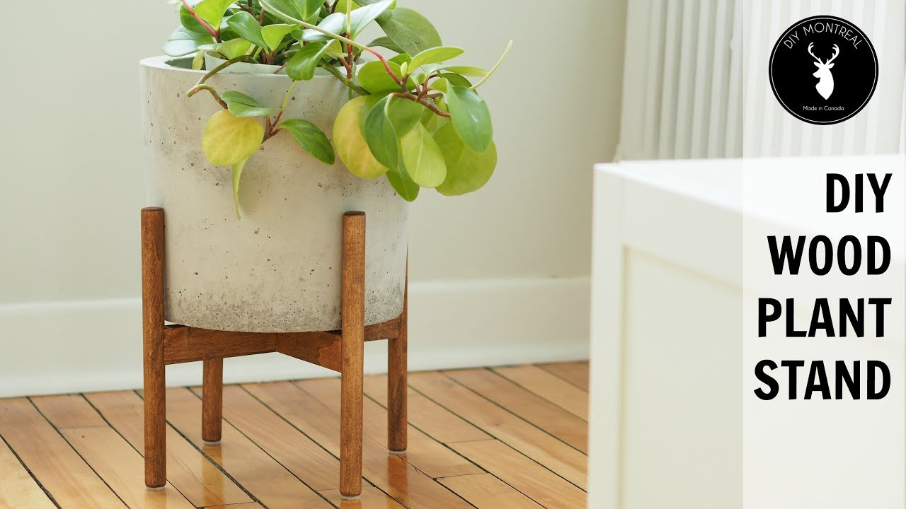 DIY Wood Plant Stand - YouTube