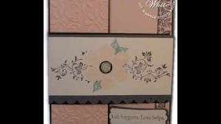 Vintage Vogue Accordian Fold Card featruing Stampin Up stamps
