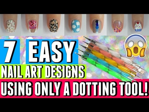 7 EASY NAIL ART DESIGNS THAT ONLY REQUIRE A DOTTING TOOL | Spangley Nails
