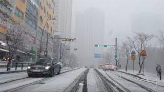 Korea heavy snow! BMW 640d Gra…