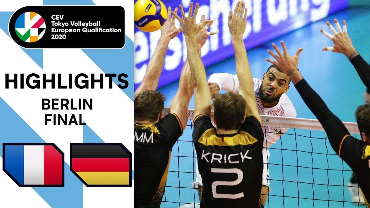 Download FINAL: Germany vs. France - Highlights | CEV Men's Tokyo Volleyball Qualification 2020