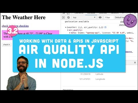 3.2 Open Air Quality API in Node.js - Working with Data and APIs in JavaScript thumbnail