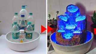 Amazing Water Fountain with Plastic Bottle and Led (DIY)