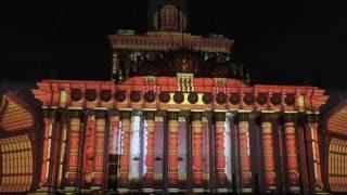 ВДНХ, Световое шоу - 2016. Видеомаппинг - 1.