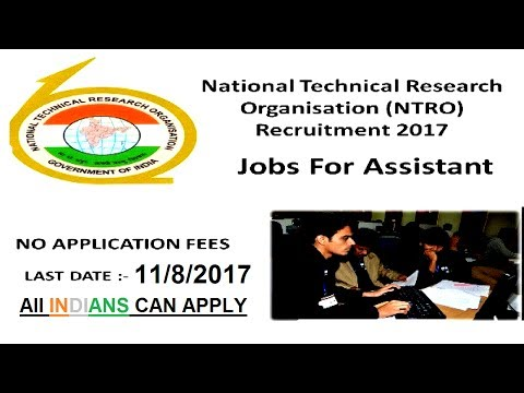 National Technical Research Organisation Recruitment 2017