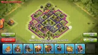 Aldea farming th7 que yo uso |Clash of Clans | The Skill FIFAX