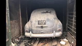 заброшенном гараже. простояла больше 10 лет.ГАЗ-20 ПОБЕДА заводском состоянии