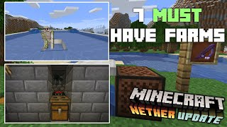 7 Must Have Survival Farms - Minecraft 1.16 +