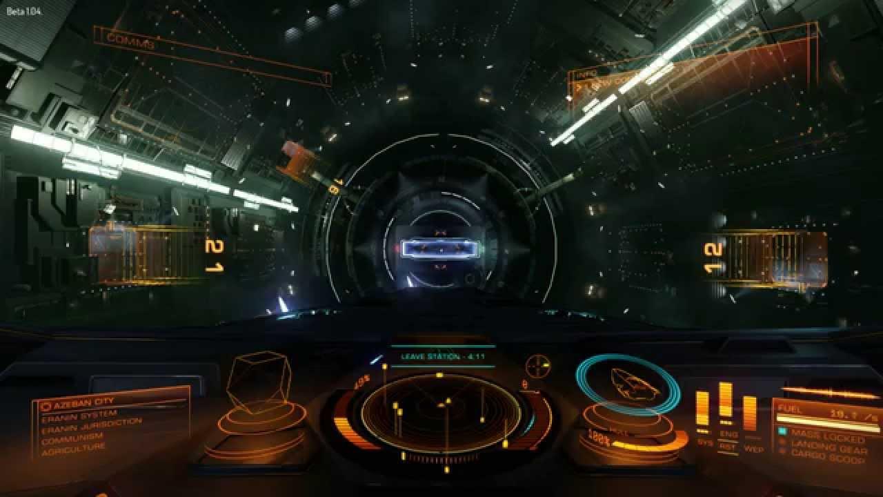 Elite Dangerous Beta 104 Anaconda Boosting Out Of A Docking